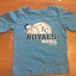 Boys BWOT KC ROYALS Baseball SS Tee 2T